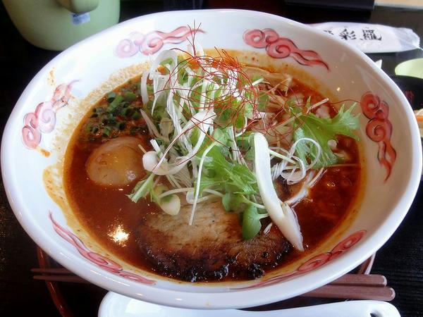 赤玉Panchiらー麺(辛さ2倍) 892円 + 煮玉子 99円