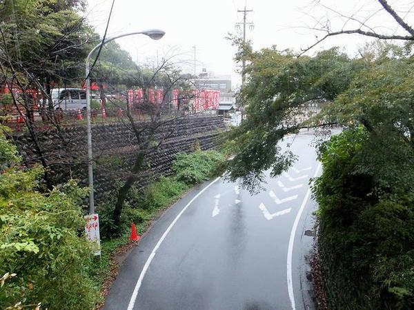 橋の下を通る道路