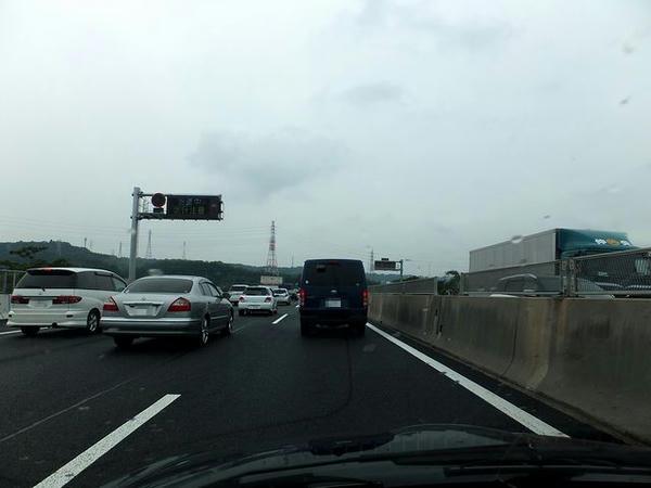 東名阪道渋滞中