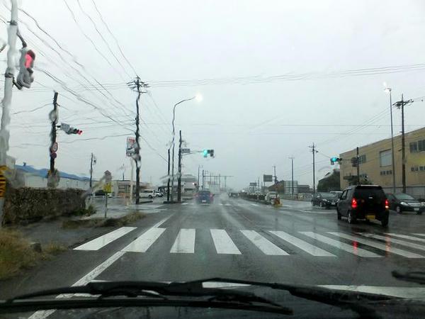 雨の国道41号