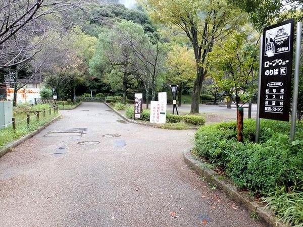 岐阜公園入口付近