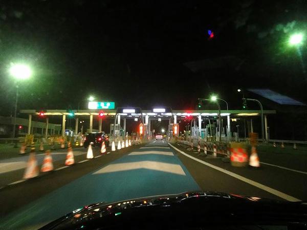 岡谷ICから一般道へ