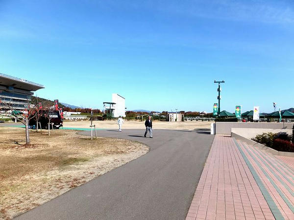 震災前より寂しくなってしまった馬場内広場