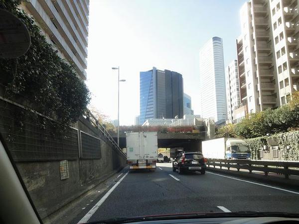 首都高速走行中