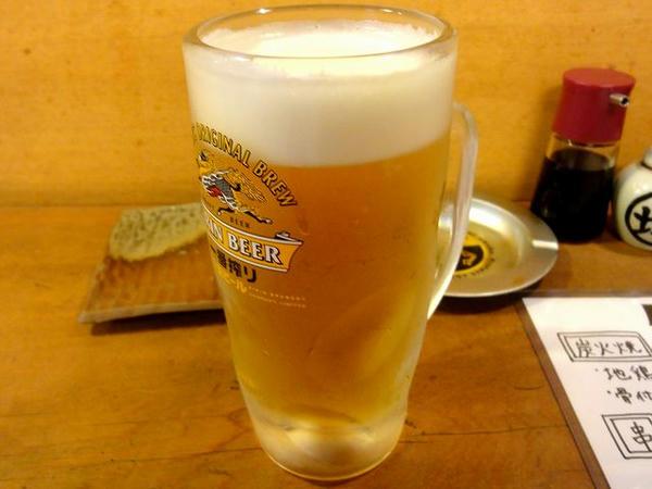 生ビール(中) 490円