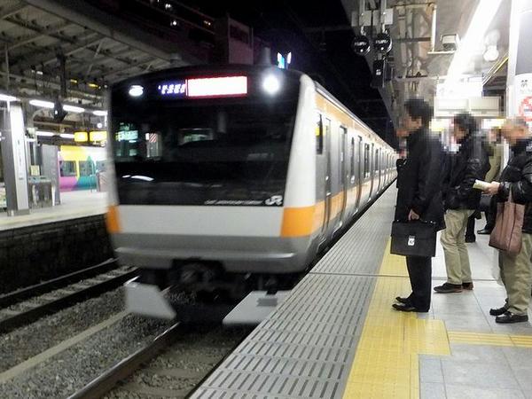 新宿駅から中央線快速で東京駅へ