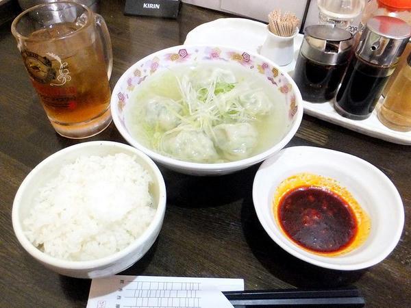 水餃子定食 550円