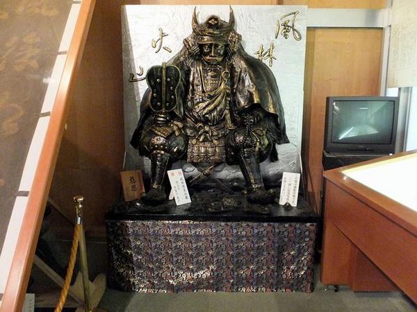 展示物で唯一撮影可能な信玄公の像