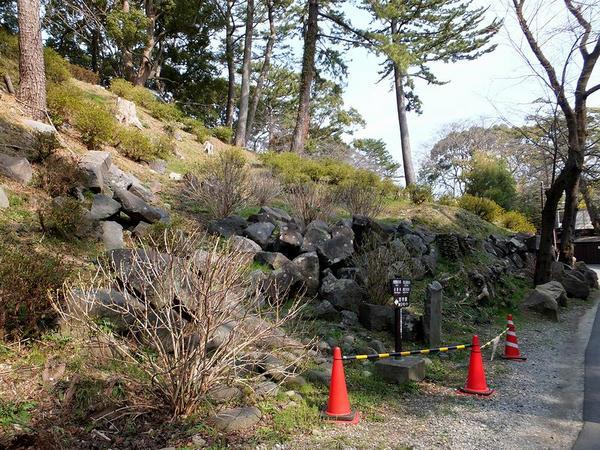城内に残る石垣