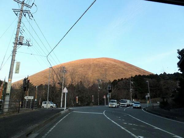 大室山が見えれば伊豆高原はすぐ