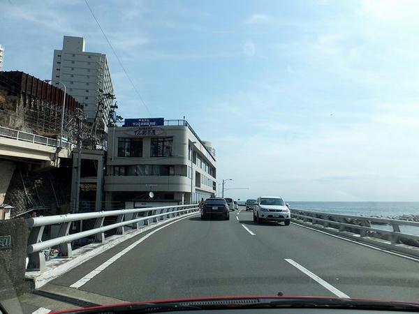 熱海海岸自動車道走行中