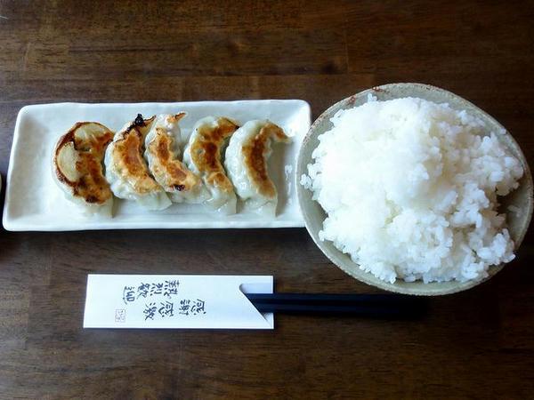 一口餃子ランチ 150円(てんこ盛りライス)