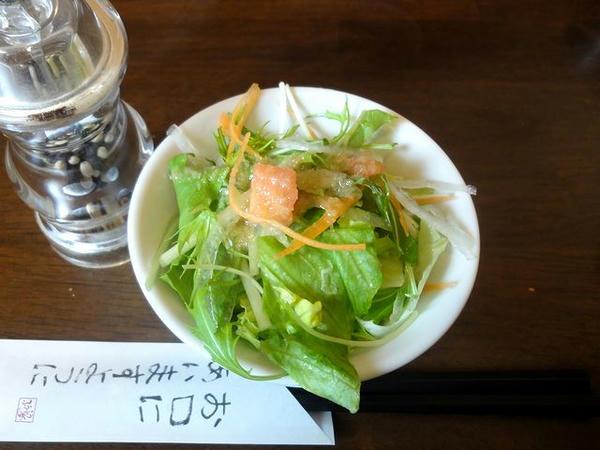 ふうふう亭の1口餃子ランチ 280円 のサラダ