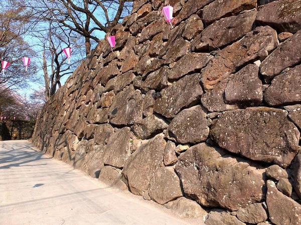 入口付近の石垣