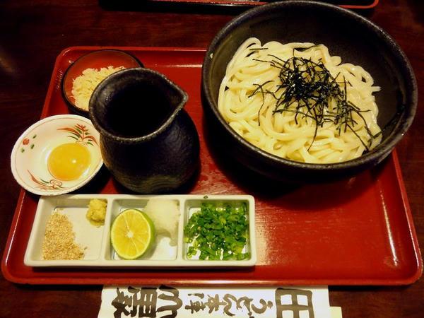 釜ぶっかけ(卵黄入り) 600円