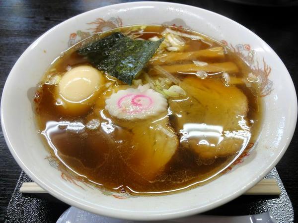 和風らーめん(細麺) 650円 + 味付煮玉子 100円