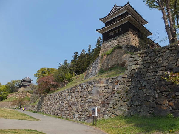 尼ヶ淵から見上げる上田城