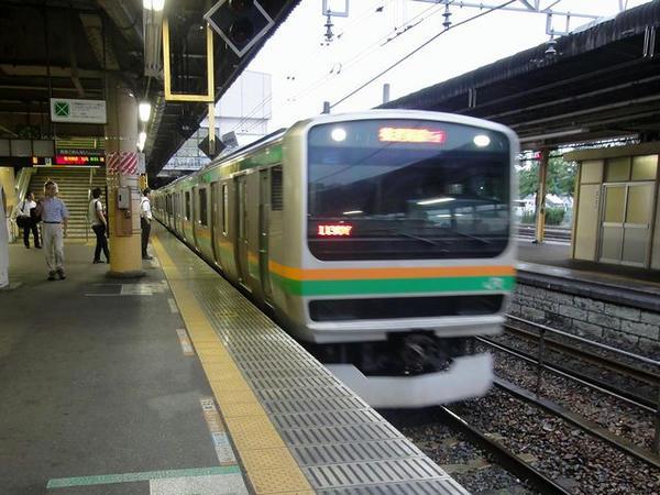 宇都宮駅でJR湘南新宿ラインに乗り換え