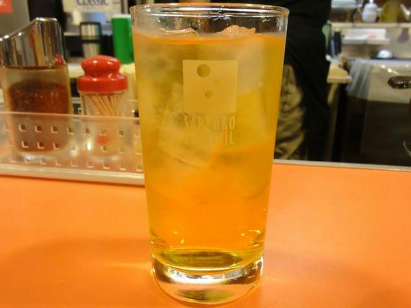 焼酎甲類(緑茶割り) 420円