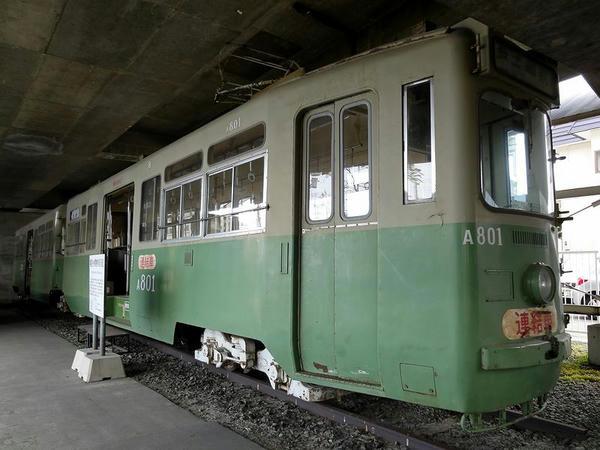 鋼製2連節電動客車 A800形(A801+A802)
