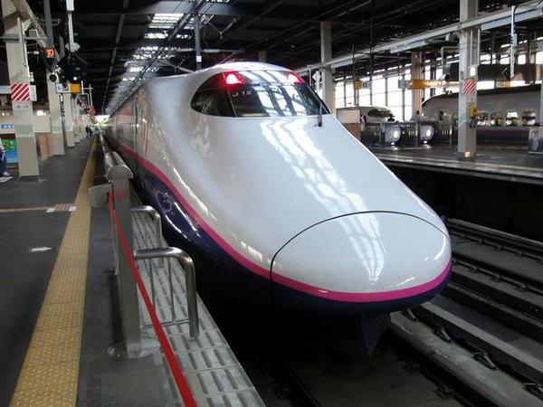 乗車した東北新幹線やまびこ284号