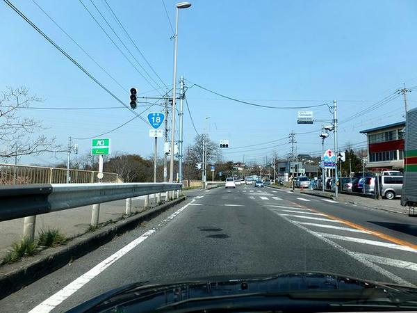 国道18号で上田へ