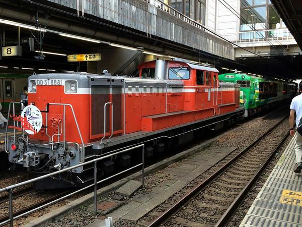宇都宮駅で見かけたトロッコ列車