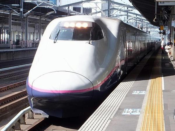 宇都宮駅から東北新幹線に乗車