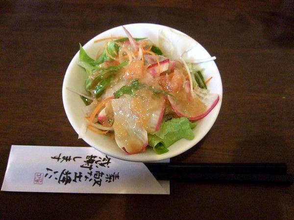 もやしチャーシューセット(小ライス) 378円 のサラダ