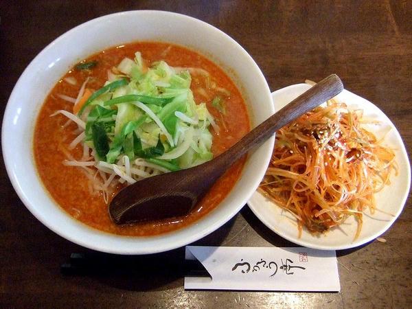 ピリ辛味噌拉麺 681円 + 赤ネギ(ピリ辛) 157円