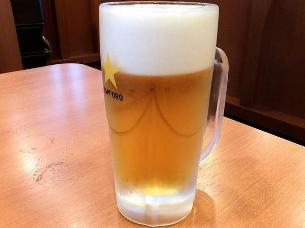 生ビール(中ジョッキ) 486円
