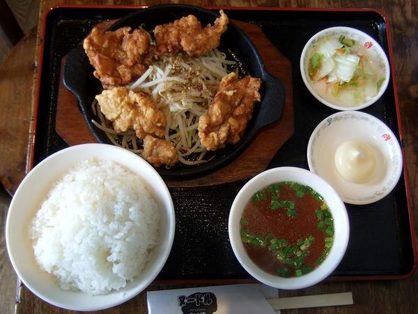 唐揚げ定食 557円