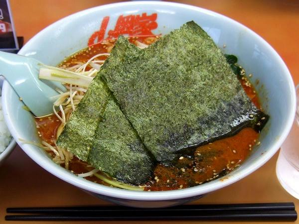 辛味噌ネギラーメン(激辛・脂普通・味薄目・麺普通) 790円 + 半ライス 110円
