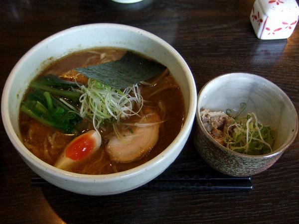 和の月ら~めん 730円 + 紅辛小鉢 120円