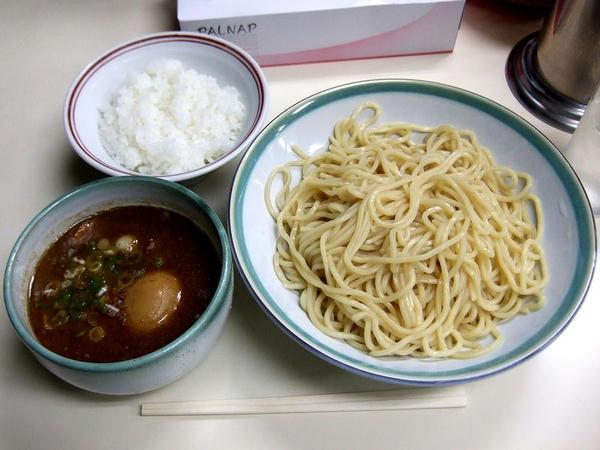 つけ麺 780円 + 玉子 100円 + 半ライス 100円
