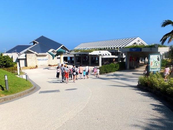 沖縄美ら海水族館入り口付近