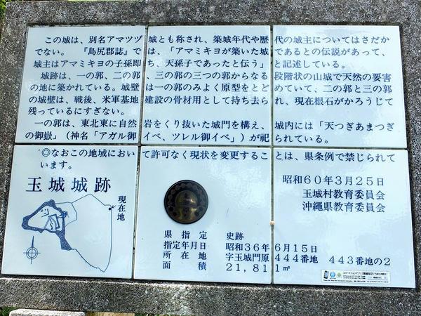 石碑脇の説明板
