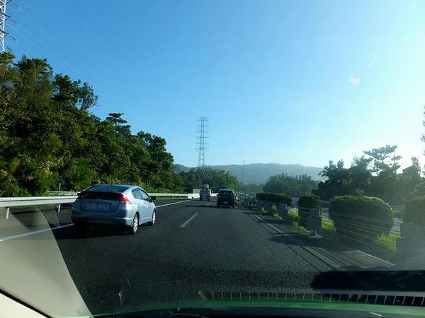 朝の沖縄道