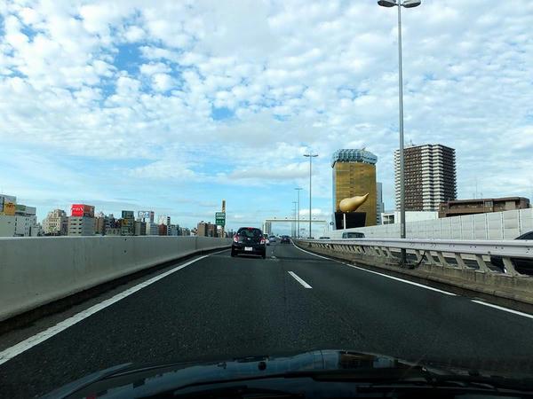 妙に秋っぽい空だった帰りの首都高速