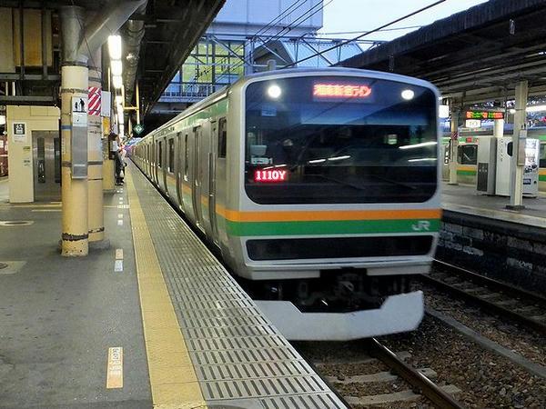 宇都宮駅に入線する湘南新宿ライン