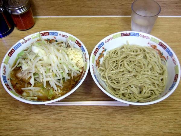 小ラーメン豚入り(ニンニク) 800円 + つけ麺 150円