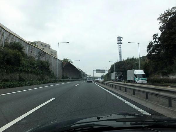 東関道走行中