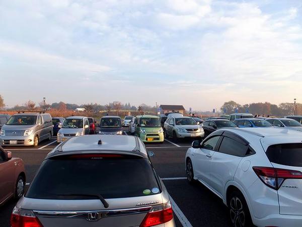 すぐに満車となった駐車場