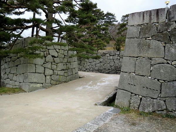 箕輪門と三の丸の間にある虎口