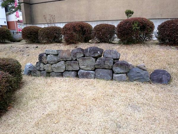 二本松藩丹羽家上屋敷跡出土の石垣