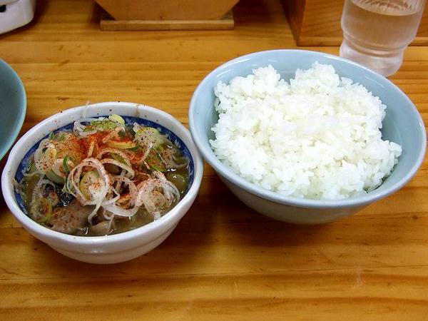 モツ煮ライス(小) 350円