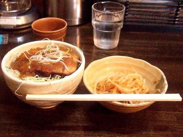 炙りチャーシュー丼小(1枚) 420円