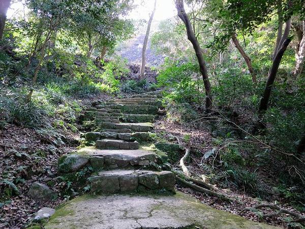 井戸丸から上へと登る登城路