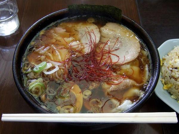 ゼンジースペシャルセット(ゼンジースペシャル(太麺)+半チャーハン) 1130円 のゼンジースペシャル