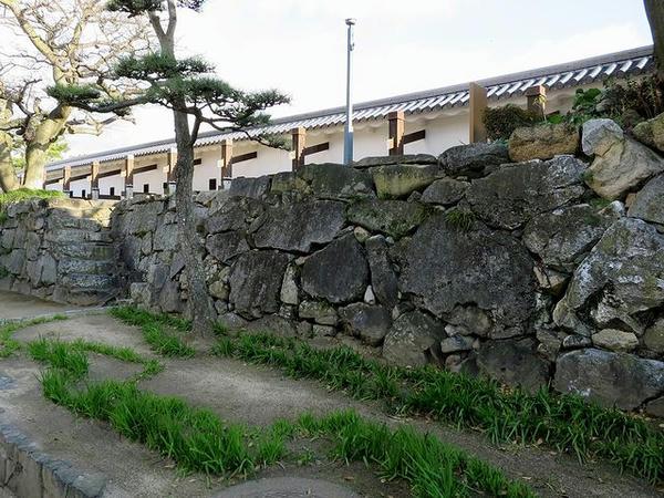 二の丸内側の石垣